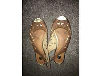 Worn women's shoes
