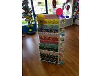 2x Gift wrap and gift card display