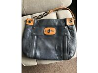 Milly leather blue ladies shoulder bag - very good condition - medium size - original