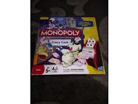 Monopoly card cash board game