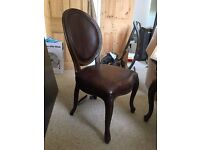 Set of 4 Pottery Barn dining chairs for sale