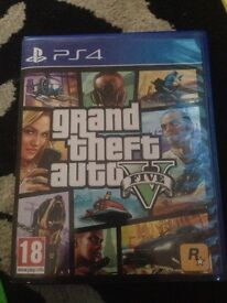 Grand theft auto 5 game for the ps4 used but works excellently
