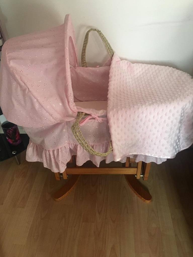 Mothercare swing Moses basket