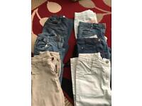 Bundle of girls trousers age 9-10