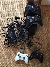 Xbox 360 250GB HD with 4 controllers and games including Fifa 16