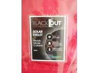 "*NEW* Dunelm RED Solar Blackout Eyelet Curtains ~ 90""x72"""
