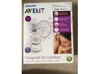Philips Avent Single Electronic Breast pump in great condition with extra spare parts