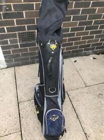 Golf Bag and clubs and balls