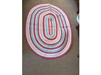 Gorgeous multicoloured stripe Laura Ashley rug