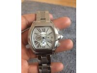 Cartier Roadster XL automatic chronograph silver stanless steel brand new never worn