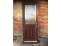 Double Glazed Door in Rosewood uPVC