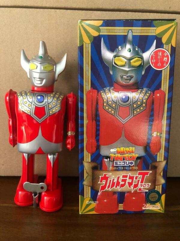 Marmit Character Collection Ultra Man 6 Inch Mini Windup Tin Toy In Box Japan