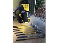 Kids junior Dunlop golf clubs & bag
