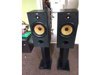 B w speakers dm602 with atacama stands bargain!!!