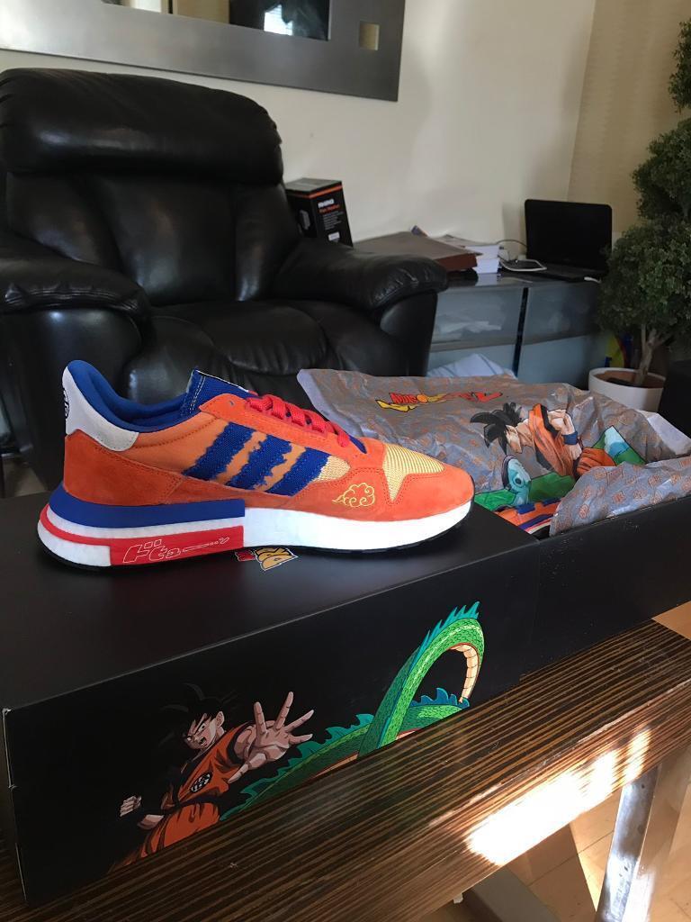 size 40 39a6d 24875 Adidas x Dragon Ball Z ZX 500 RM Son Goku UK10.5  UK9.5