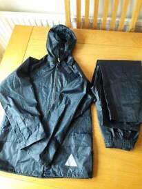 Navy waterproof jacket and trousers age 5-6