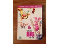 The Tigger Movie & Piglet's Big Movie Disney DVD