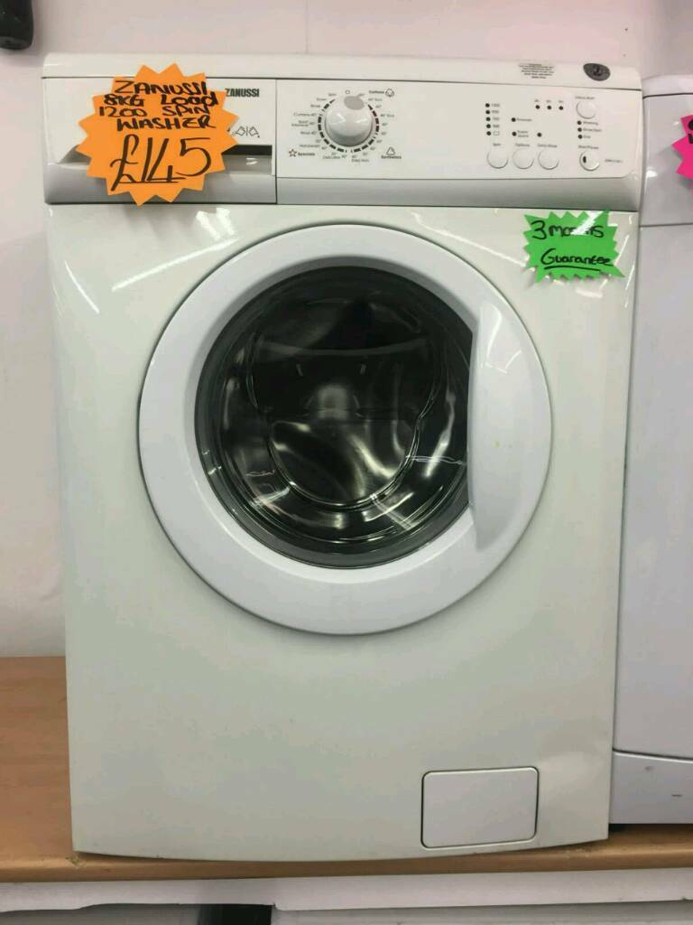 ZANUSSI 8KG 1200 SPIN WASHING MACHINE IN WHITE