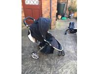 Buggy incl. Rain Cover, Infant Car Seat, Isofix, Bumber Bar & Travel Cover