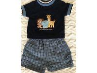 Baby boy t-shirt and shorts summer set.