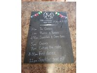 x 4 pieces of slate for wedding messages for sale