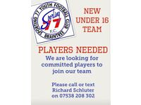 Sporting 77 Youth FC u16s are looking for new players for the coming season.
