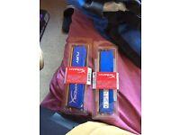 HyperX FURY Series 4 GB DDR3 1600 MHz CL10 DIMM Memory Module, Blue