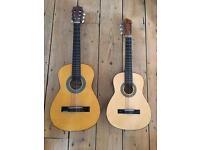 2 x Guitar larger guitar is Palma & smaller guitar Herald