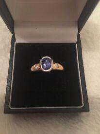 Rare pale blue sapphire ring.