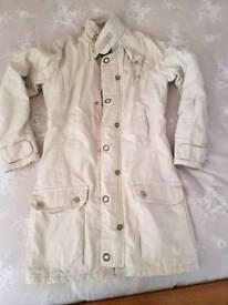 ladies G Star jacket in cream 3/4 length