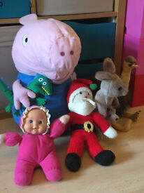 Plush Toys (incl. large George from Peppa Pig)