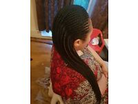 Ghana platt,Box Braids,Weave on,Single platt and more