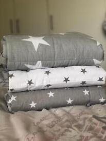 3xcot bed stars bumpers