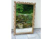 Modern Gilt Ornate Framed Mirror 121cm x 81cm