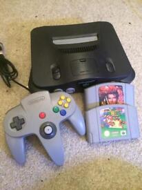 Nintendo n64 console and 2 games