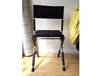 Black Foldable Chair for Portable FIR Sauna - Relax - Infrared - Slanted Mobility Perch Stool