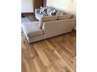 John Lewis fabric corner sofa