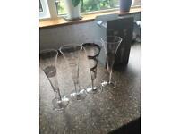 Brand new LSA Champagne Flutes
