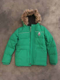 Brand New Boys Marks & Spencers Green Coat - age 11-12