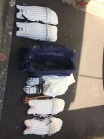 Cricket bag and contents for sale