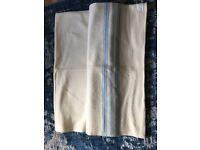 Vintage cream and blue wool blanket