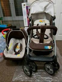 Hauck Winnie the Pooh Shop 'n' Drive Travel System