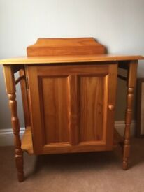 Wooden wash stand with cupboard