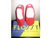 Brand New Flossy Childrens Plimsoll Shoe - Euro Size 25