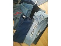 8 pairs of different style of Jeans 10-12 zara, newlook, seven7