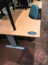 1600mm left curved table/ desk on Metal frane