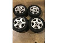 "Set of 17"" genuine Vw alloy wheels and tyres Vw T5 T6 Transporter"