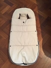 Bugaboo footmuff off white excellent condition