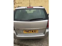 Vauxhall silver Zafira 57 plate for parts spares or repairs petrol 1.6