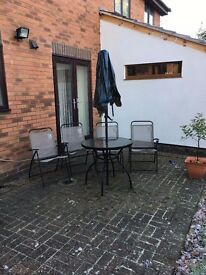 Garden Table, Chairs and Swing